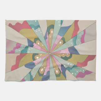 Fractal Kaleidoscope Kitchen Towel