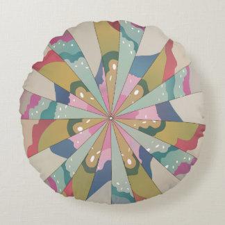 Fractal Kaleidoscope Round Pillow