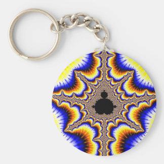 Fractal kind shop headers basic round button keychain