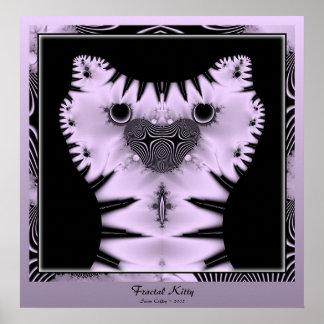 Fractal Kitty Poster