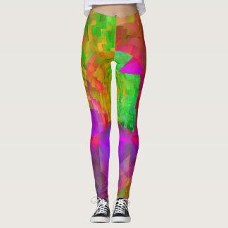 Fractal Leggings, Stained Glass Leggings