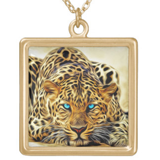 fractal leopard necklace