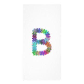 Fractal letter B monogram Picture Card
