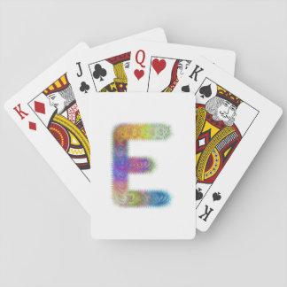 Fractal letter E monogram Playing Cards
