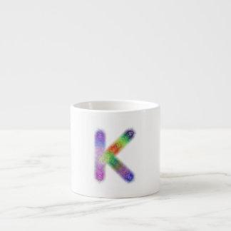 Fractal letter K monogram Espresso Cup