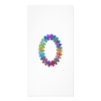 Fractal letter O monogram Photo Card Template