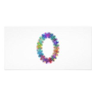 Fractal letter O monogram Picture Card