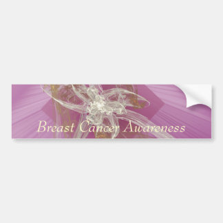 Fractal Lily - Breast Cancer Awareness Bumper Sticker
