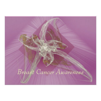 Fractal Lily - Breast Cancer Awareness Poster