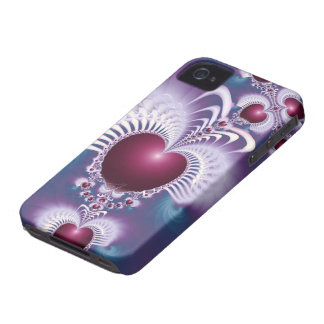 Fractal Love Hearts Blackberry Bold BT Case iPhone 4 Cover