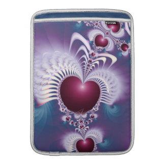 Fractal Love Hearts Rickshaw Macbook Air Sleeve