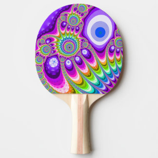 Fractal Majestic Purple Ping Pong Paddle