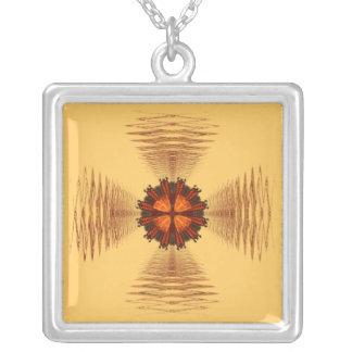 Fractal Maltese Cross Necklace
