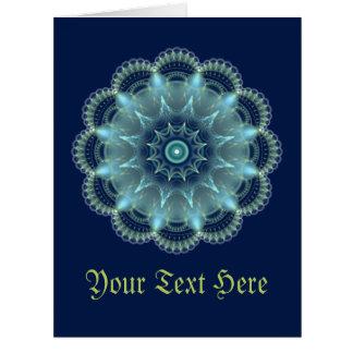 Fractal Mandala Card