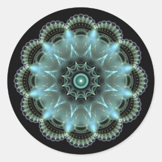 Fractal Mandala Classic Round Sticker