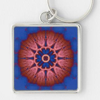 Fractal Mandala Keychain