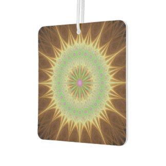 Fractal mandala sun air freshener