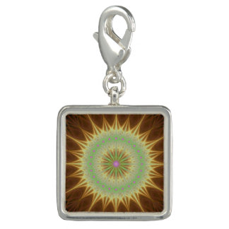 Fractal mandala sun charms