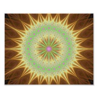 Fractal mandala sun photo print