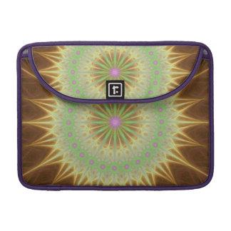 Fractal mandala sun sleeve for MacBooks