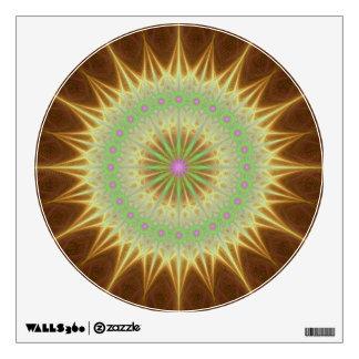 Fractal mandala sun wall decal