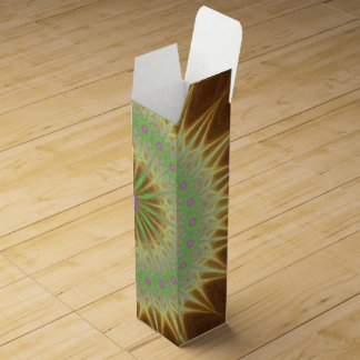 Fractal mandala sun wine box
