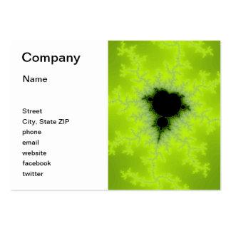 Fractal Mandelbrot Green Business Cards