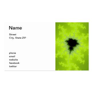 Fractal Mandelbrot Green Business Card