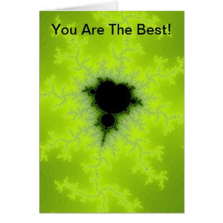 Fractal Mandelbrot Green Greeting Card