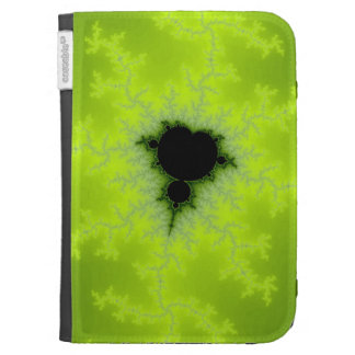 Fractal Mandelbrot Green Kindle Cases