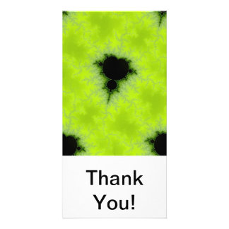 Fractal Mandelbrot Green Customized Photo Card