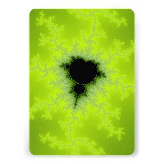 Fractal Mandelbrot Green Personalized Invitation