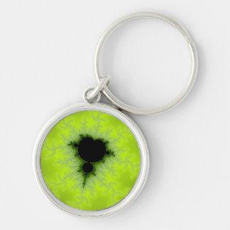 Fractal Mandelbrot Green Key Chain