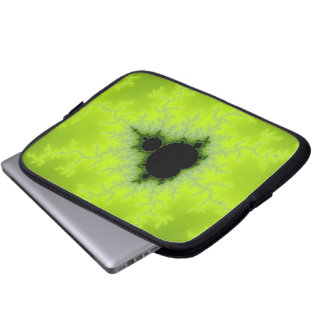 Fractal Mandelbrot Green Laptop Computer Sleeves