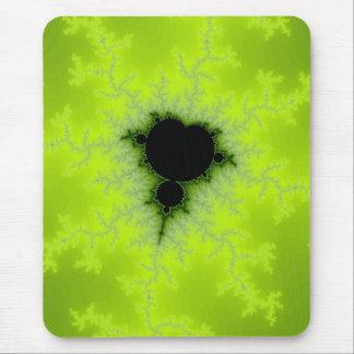 Fractal Mandelbrot Green Mouse Pad