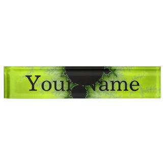 Fractal Mandelbrot Green Desk Name Plates