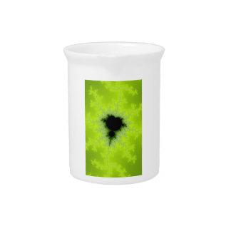 Fractal Mandelbrot Green Drink Pitchers