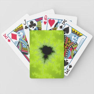 Fractal Mandelbrot Green Bicycle Poker Deck