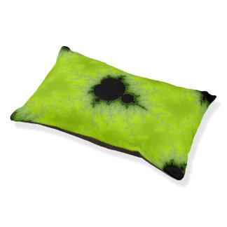 Fractal Mandelbrot Green Small Dog Bed