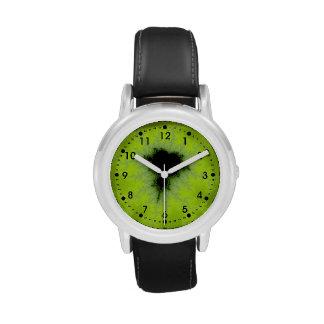 Fractal Mandelbrot Green Wrist Watches