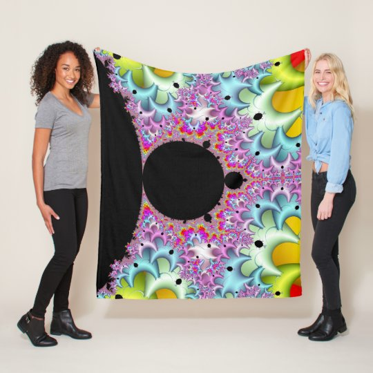 Fractal Mandelbrot Multicolor Fleece Blanket
