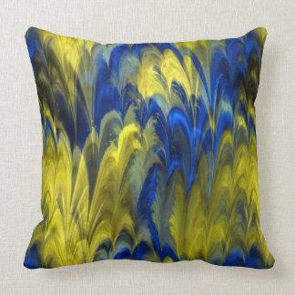 Fractal Marble 4-21 Throw Pillow