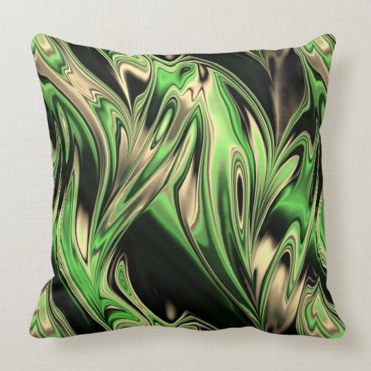 Fractal Marble 6-3 Throw Pillow
