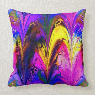 Fractal Marble 7A Throw Pillow