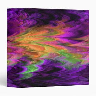 Fractal Marble Rainbow Binder Vinyl Binder