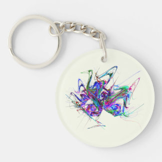 Fractal - Mardi Gras Mask Keychain