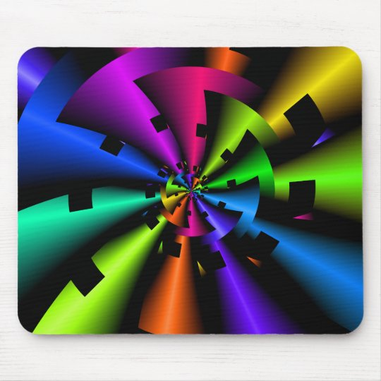 Fractal Metallic Rainbow Mouse Pad