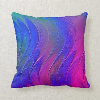 Fractal Miama Throw Pillow