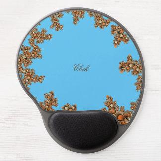 Fractal Modern Design Blue Gel Mousepad