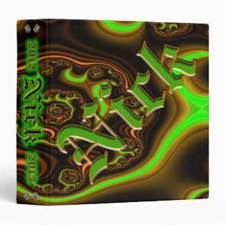 "Fractal Nick Custom 1.5"" 3 Ring Binder"